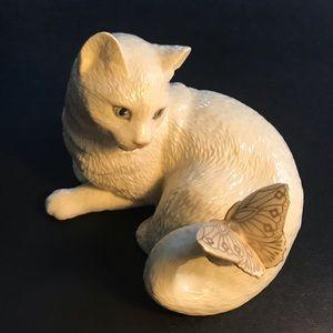 Lenox kitten with butterfly figurine